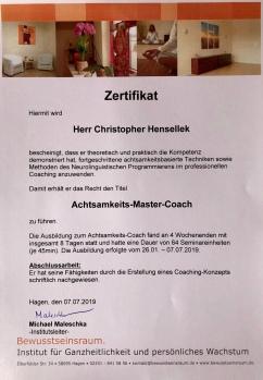 Achtsamkeit Zertifikat